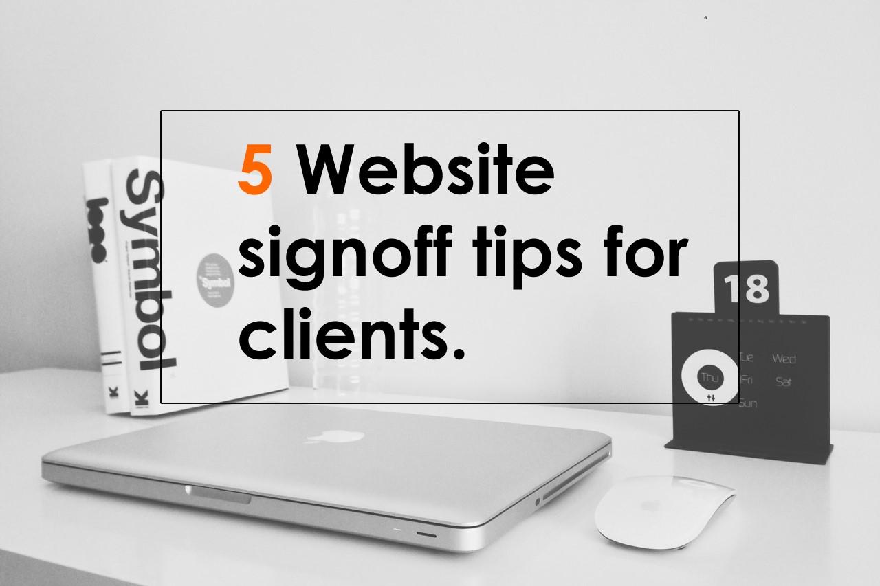 website signoff tips
