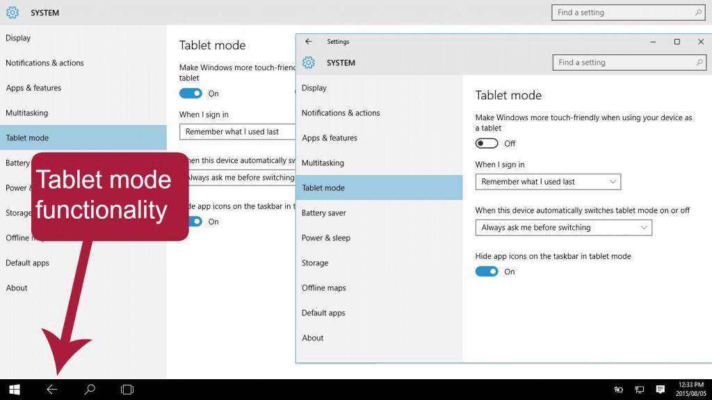 Pomegranite Online Presence Consultancy Windows 10 tablet mode options