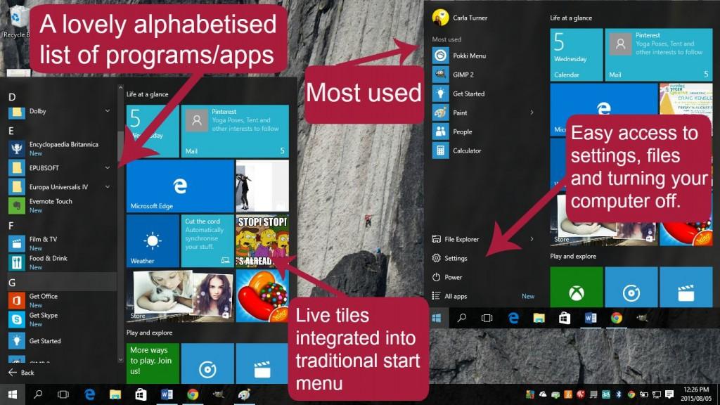 Pomegranite Online Presence Consultancy Windows 10 the start menu is back