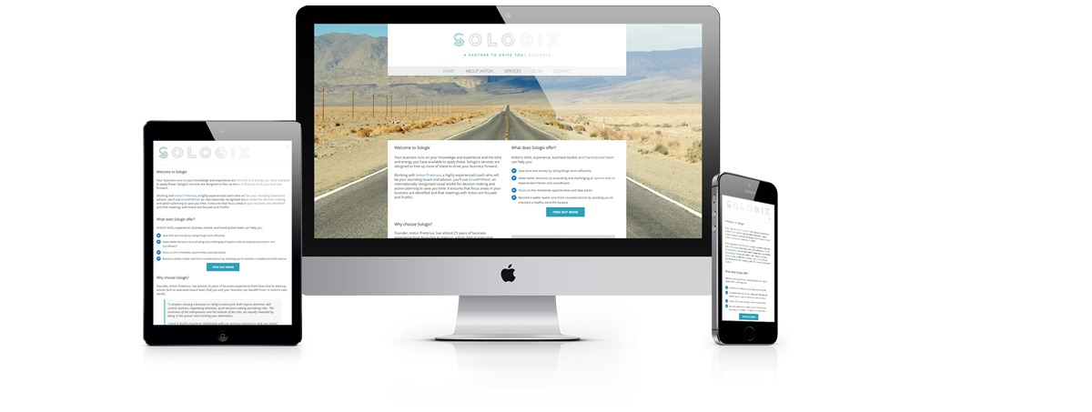 sologix website development by Pomegranite