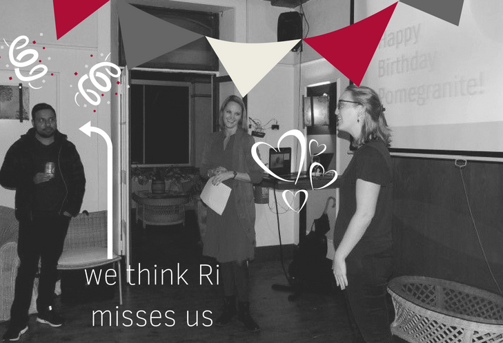 we think Ri misses us Pomegranite Online Presence COnsultancy PARTY