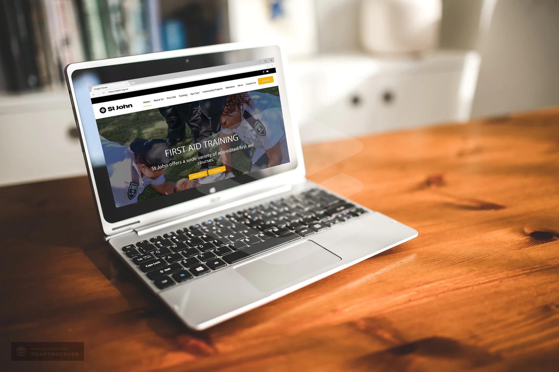 St John website development Pomegranite