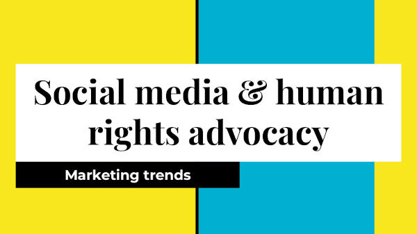 Social media marketing trends among human rights organisations(1)